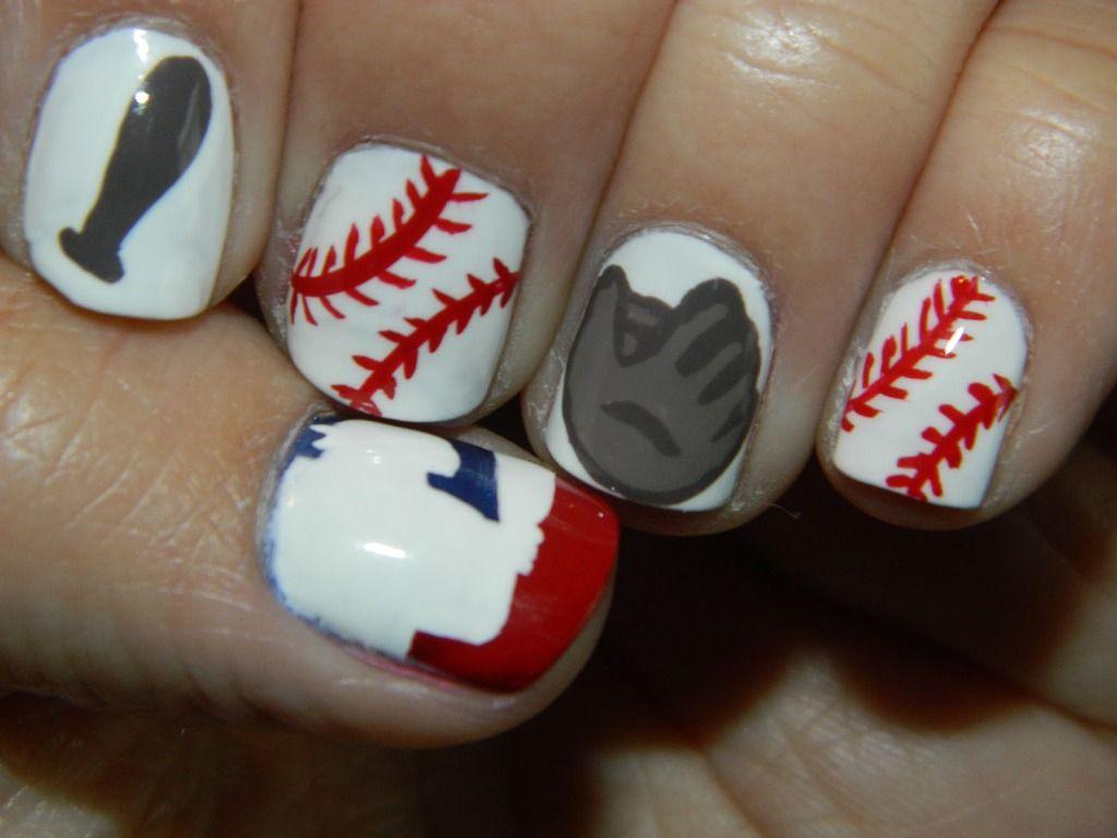 The Interesting Baseball Nail Art - http://artnaildesign.net/the- - The Interesting Baseball Nail Art - Http://artnaildesign.net/the