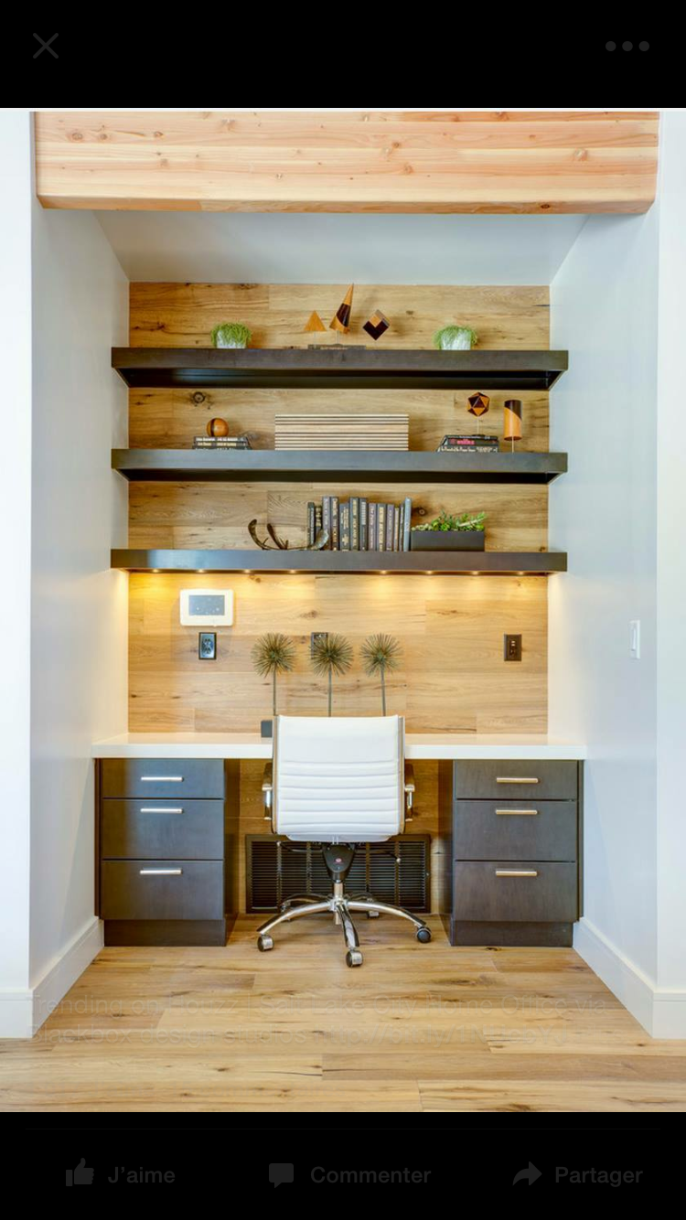cool home office ideas mixed. Modren Mixed Interesting Floating Shelves On An Accent Wall For Office Mixed With A  Very Modern Executive Chair For Cool Home Office Ideas I
