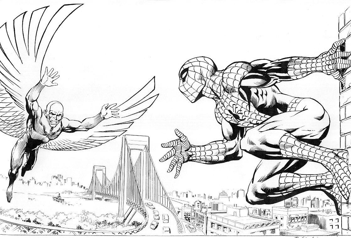 Marvel1980s Spiderman Spiderman Coloring Marvel Comics