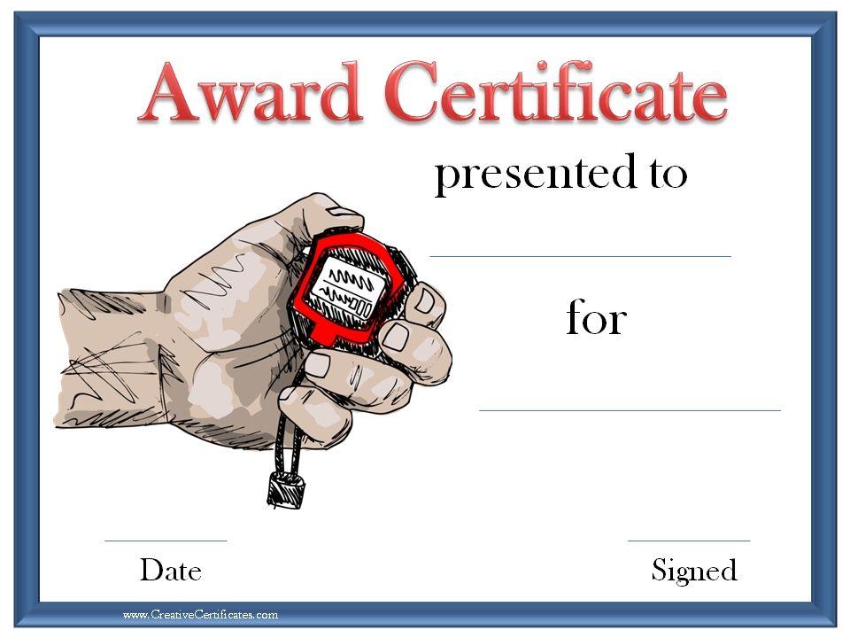 printable sport certificate PE Pinterest Certificate, Online