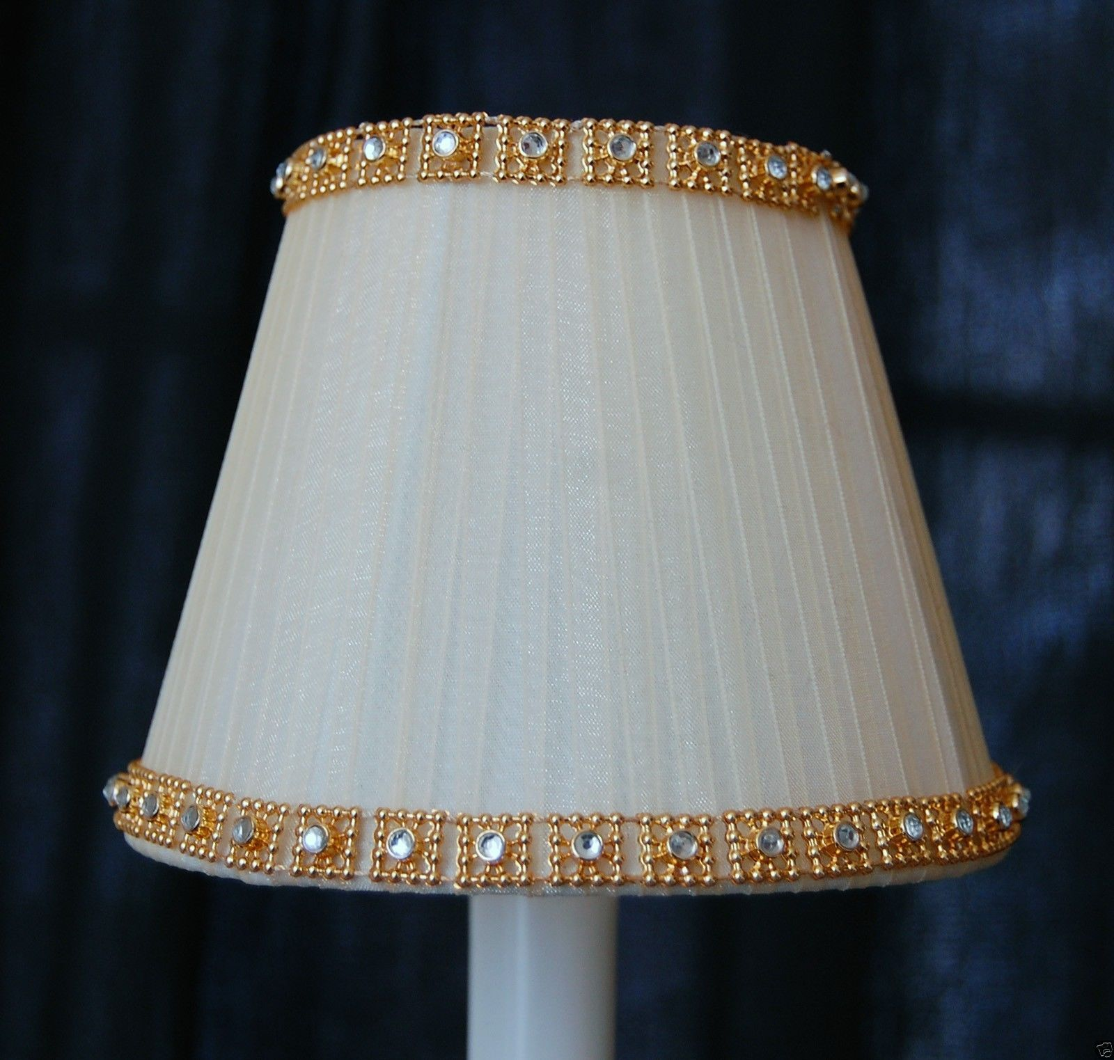 Lamp White Mini Lamp Shade Clip Chandelier Fabric New Pleated