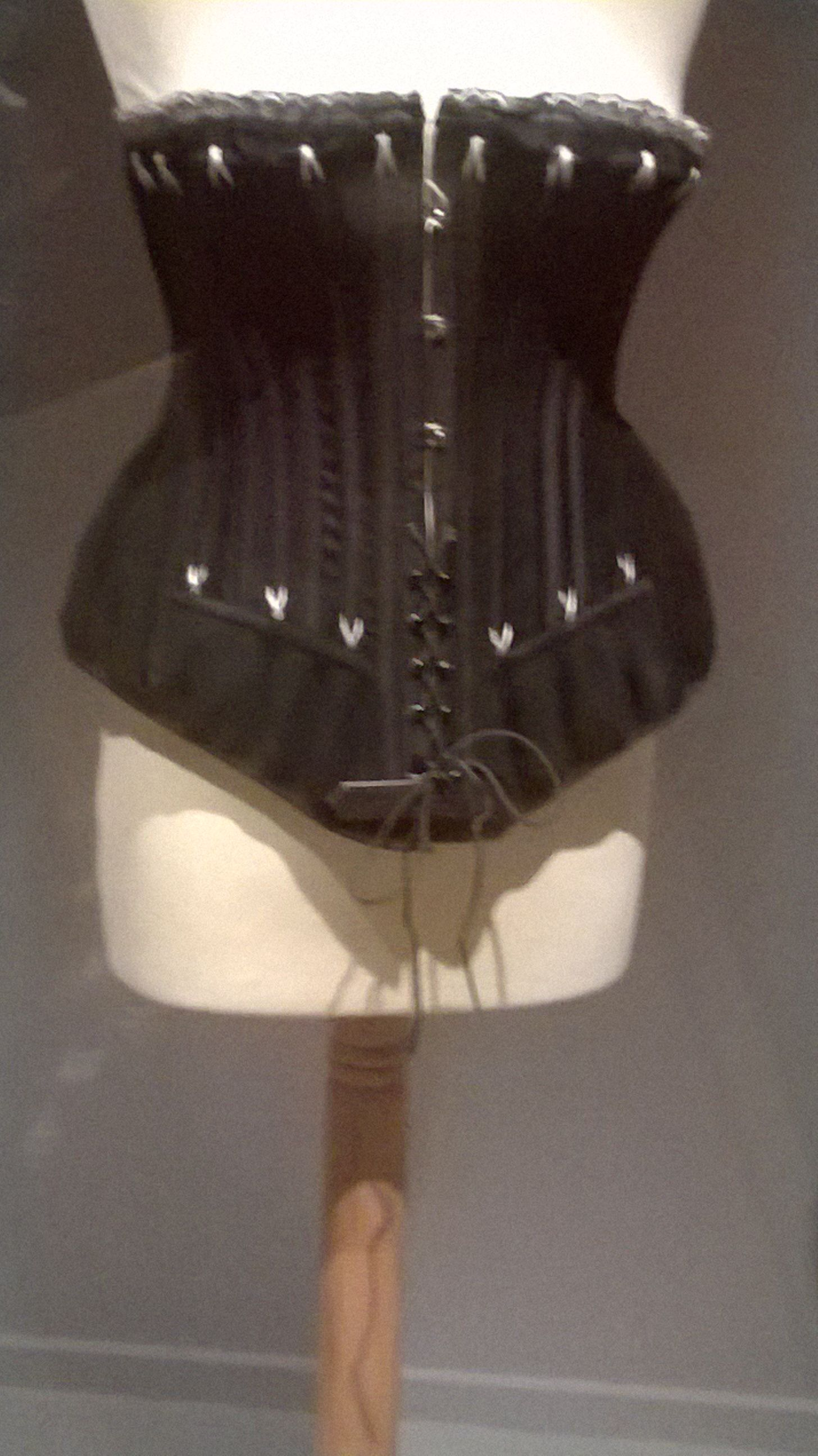 Black Satin Corset, late 1800s
