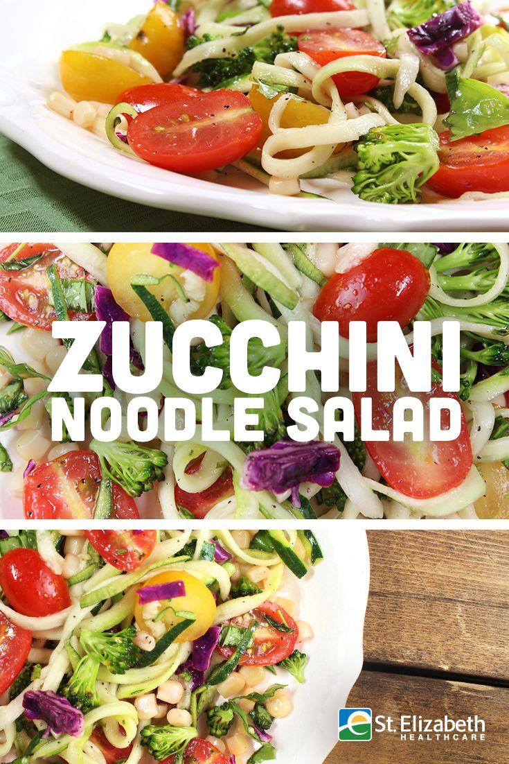 Super easy and delicious Zucchini Noodle Salad recipe ...