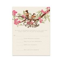 Cheap bird wedding invitation - The Wedding Specialists