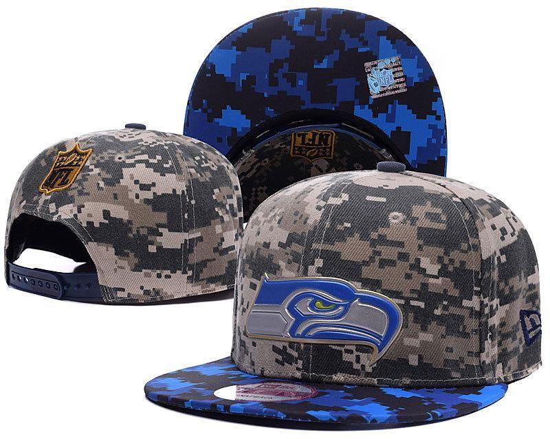 Mens Seattle Seahawks New Era NFL Liquid Chrome Team Logo Digital Camo  9fifty Fashion Snapback Cap - Woodland   Navy d53c58150