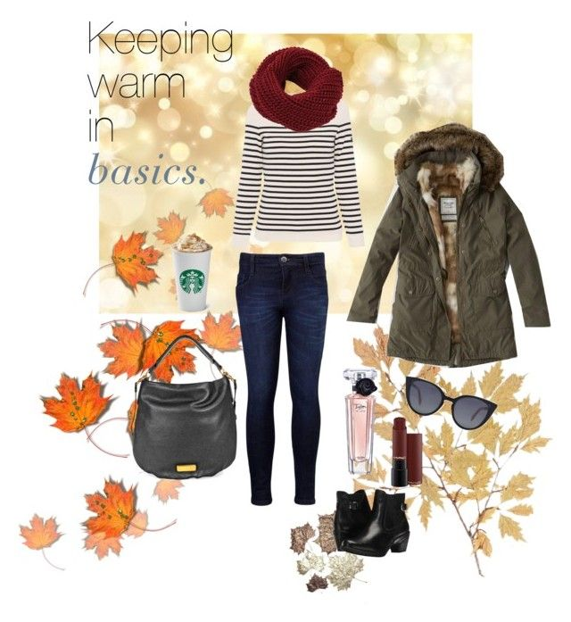 """""""Keeping warm in basics"""" by paperbagparade on Polyvore featuring Levi's, Saint James, Marc by Marc Jacobs, Abercrombie & Fitch, Spring Step, Lancôme and Fendi"""