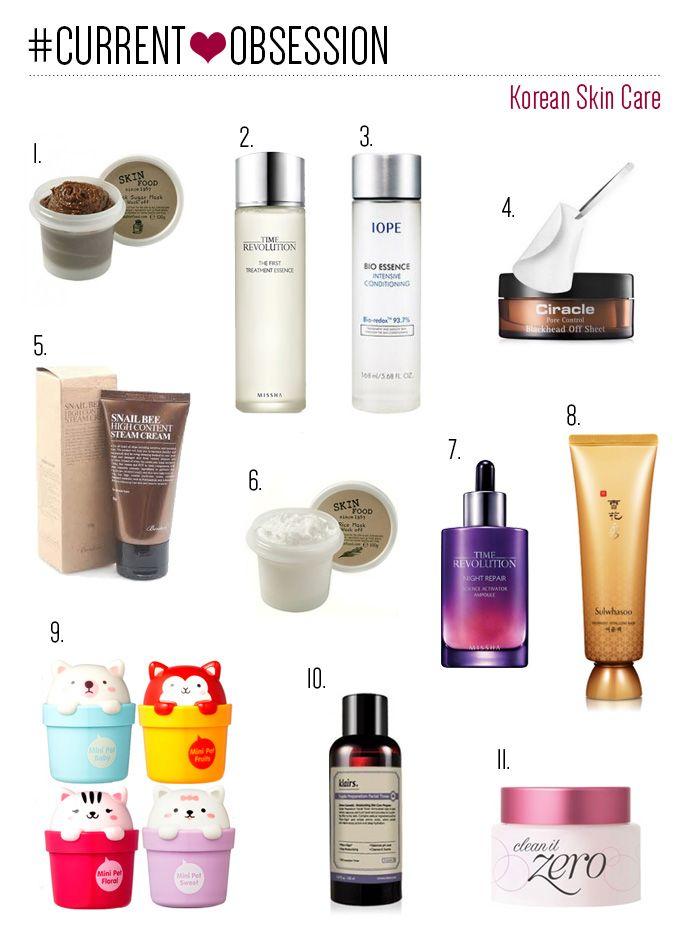 Current Beauty Obsession Korean Skin Care Skin Care Korean