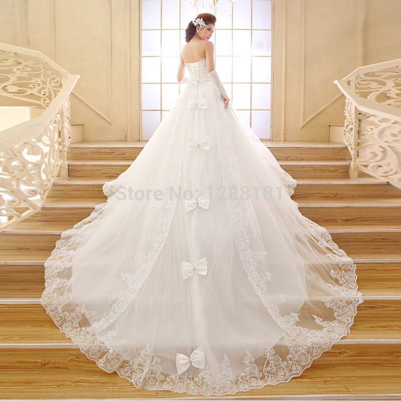 vestido de novia con cola mas larga - buscar con google   vestidos