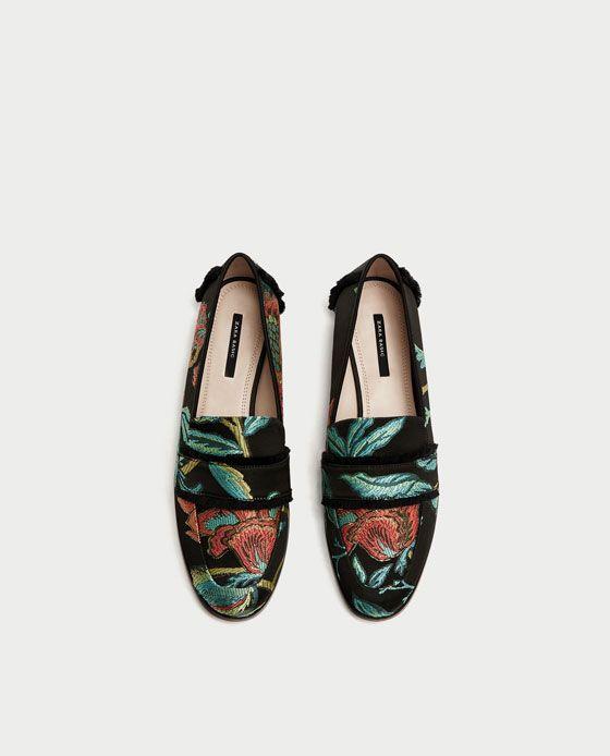 MOCASÍN DESFLECADO  JACQUARD  DESFLECADO Zara y Zapatos cf3e32