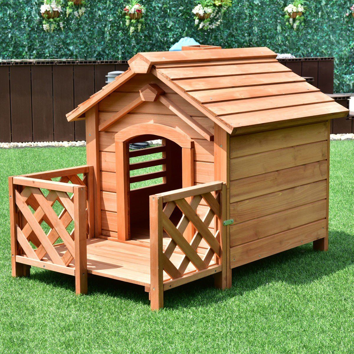 Wooden Pet Dog House Crates With Porch Window Wooden Dog House