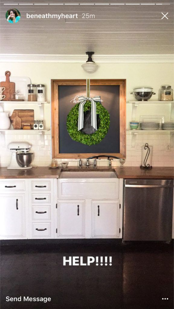 Decorating The Wall Above A Kitchen Sink With No Window The Lettered Cottage Kitchen Sink Decor Kitchen Sink Remodel Kitchen Remodel