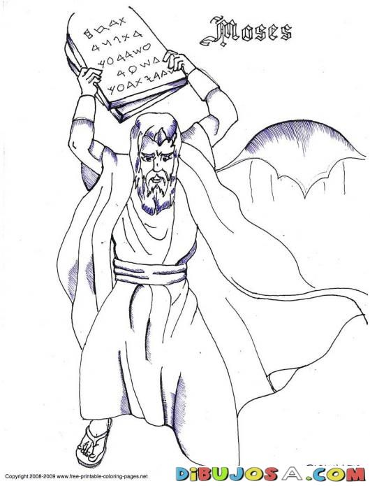 Free Coloring Pages Of Moses And 10 Commandments 853 X 97 KB