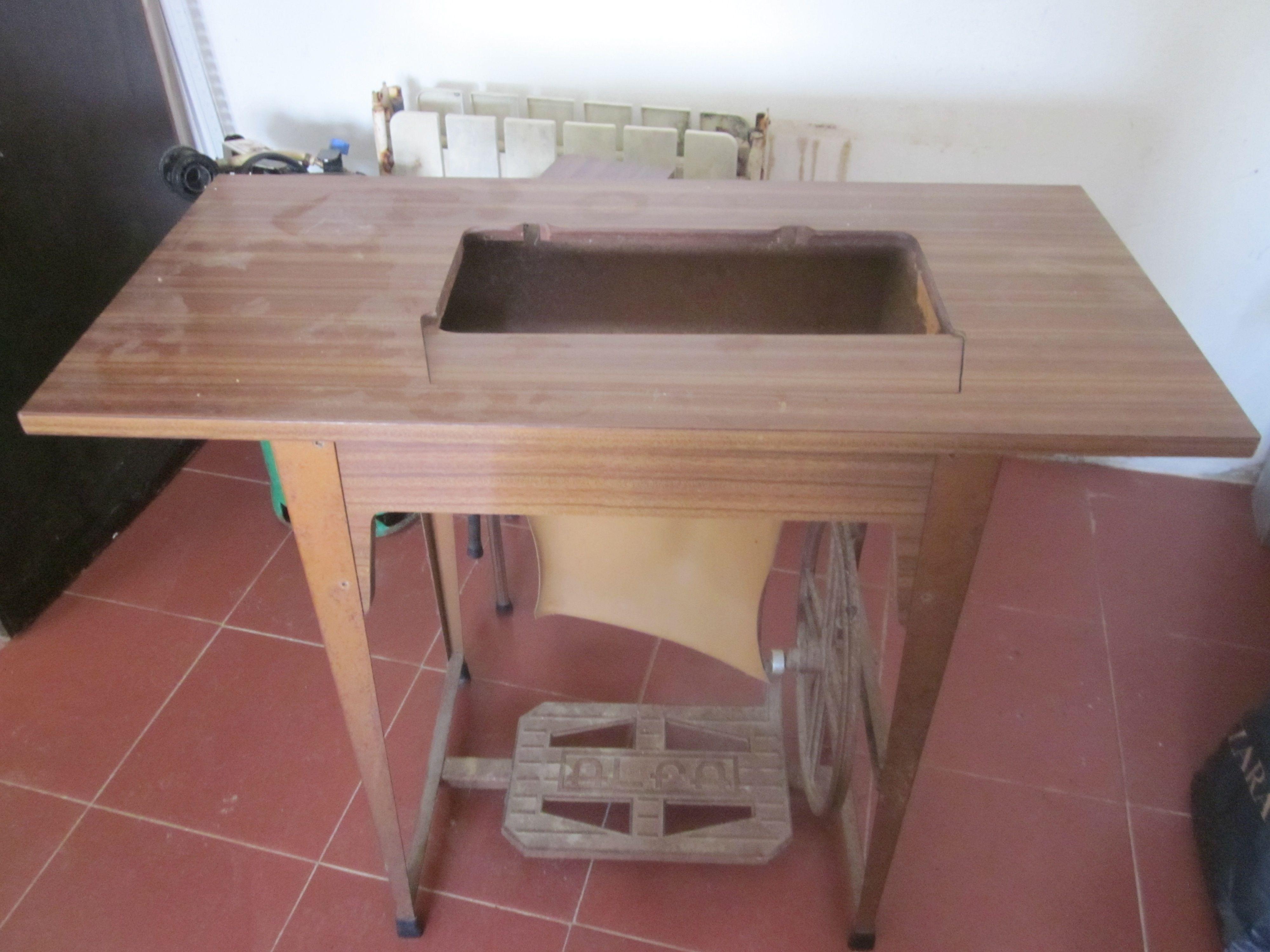 maquina de costura da mãe - antes