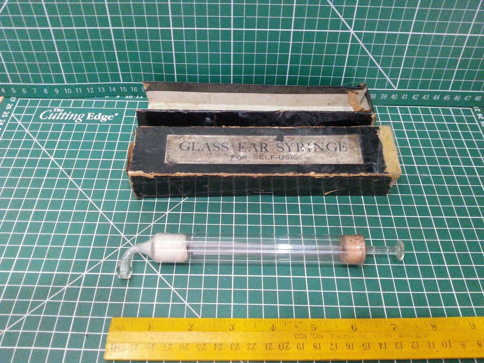 Vintage Glass Ear Syringe For Self Use