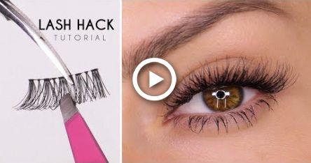 False Eyelash Hack | Easy Way To Apply Lashes | Shonagh ...