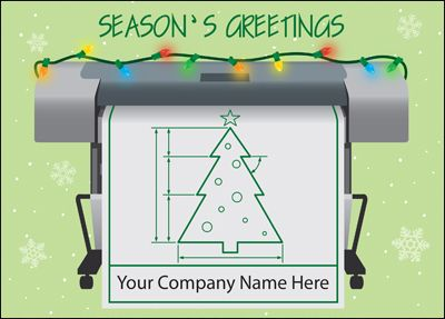 Customize Blueprint Holiday Cards Online | Ziti Cards #civil #engineering #ZitiCards