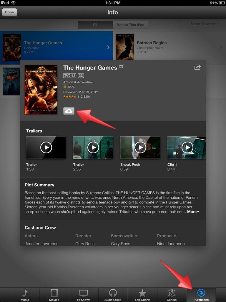 Music, Movies, and TV purchases in the iTunes store can be