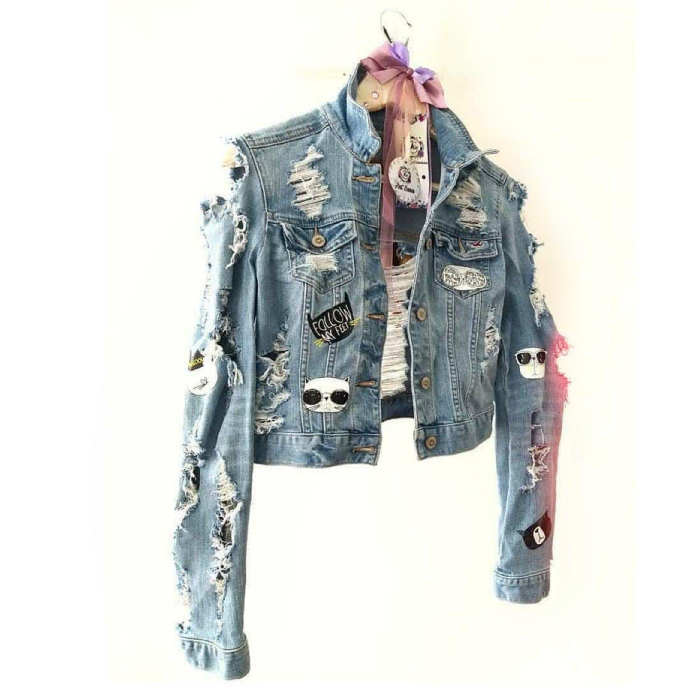 Denim Jacket For Women Fashion Jean Jacket Exclusive Jacket Etsy Denim Jacket Designer Denim Jacket Jackets [ 2289 x 2289 Pixel ]