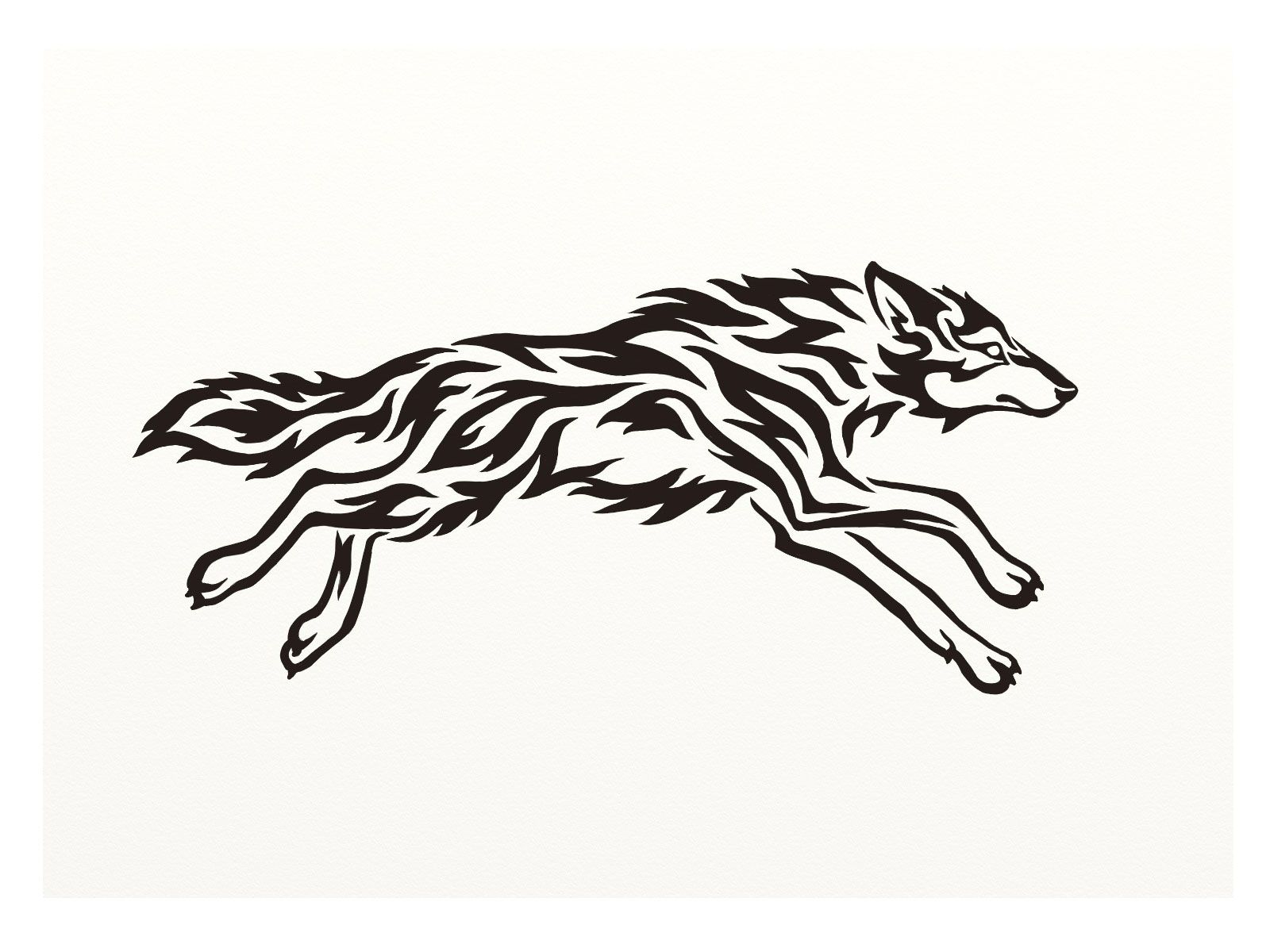 Running Wolf Tatts And Such Pinterest Wolf Tattoos Wolf