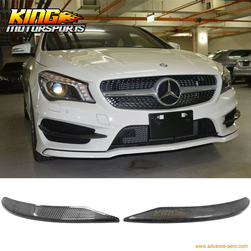 For 13-15 Mercedes Benz Cla W117 Front Bumper Lip Overlays