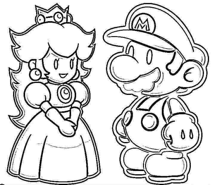 Super Mario Peach Coloring Pages Mario Princess Coloring Pages Printable