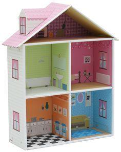 Puppenhaus aus pappe selbst basteln basteln - Puppenhaus basteln ...