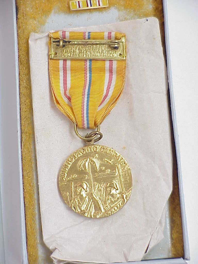 ORIGINAL WWII Theatre Made (Philippines   El Oro) Asiatic Pacific Campaign  Medal | EBay