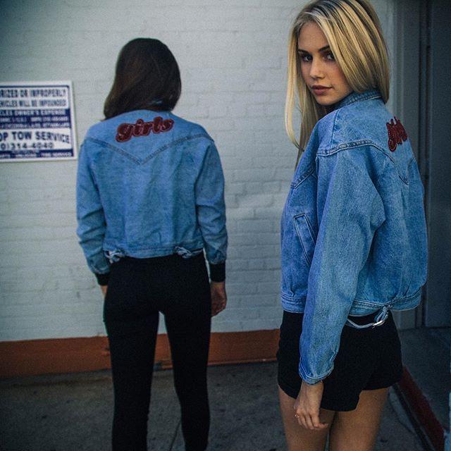 Brandyusa Isabelle Girls Patch Denim Jacket Cool Style Fashion