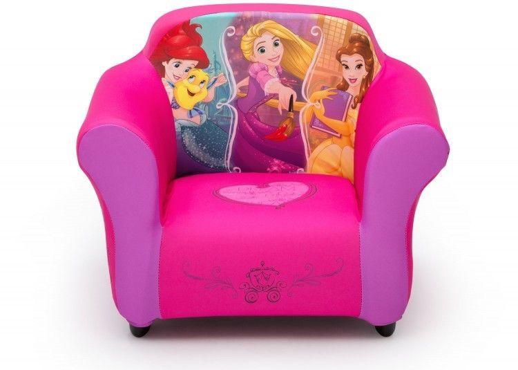 Princes Toddler Chair Girls Disney Belle Ariel Cinderella Upholstered Armchair Disney Toddler Chair Princess Chair Upholstered Arm Chair