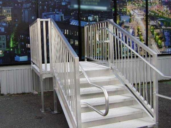 Best Ada Stairs To A Office Building Stairs Stair Handrail Stair Railing 400 x 300