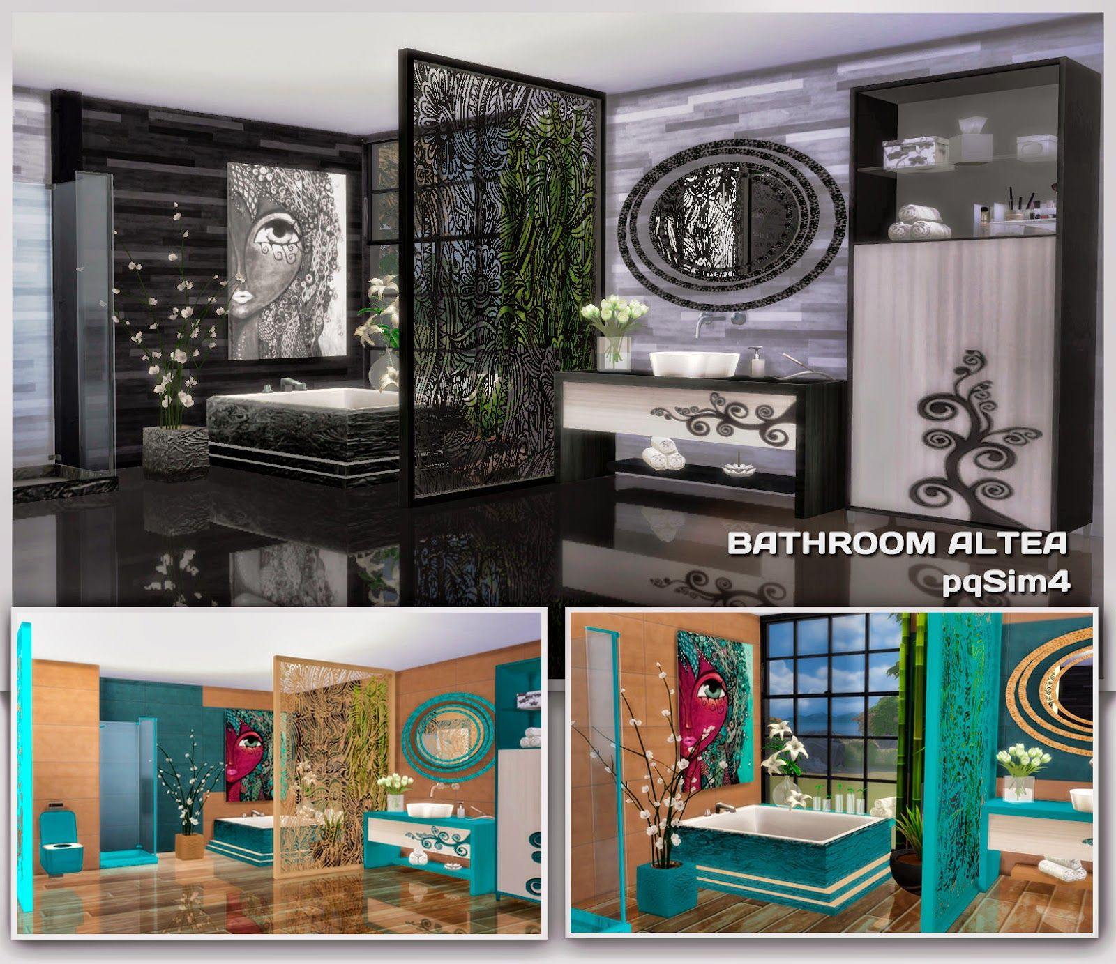 Muebles Sims 4 Bathroom Altea Sims 4 Custom Content Cc Sims