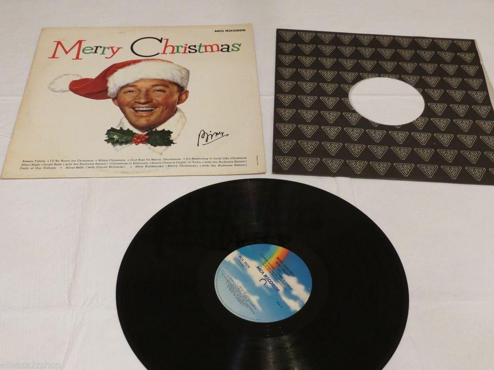 merry christmas mca records bing crosby 15024 silent night lp rare mono vinyl - Bing Crosby I Wish You A Merry Christmas