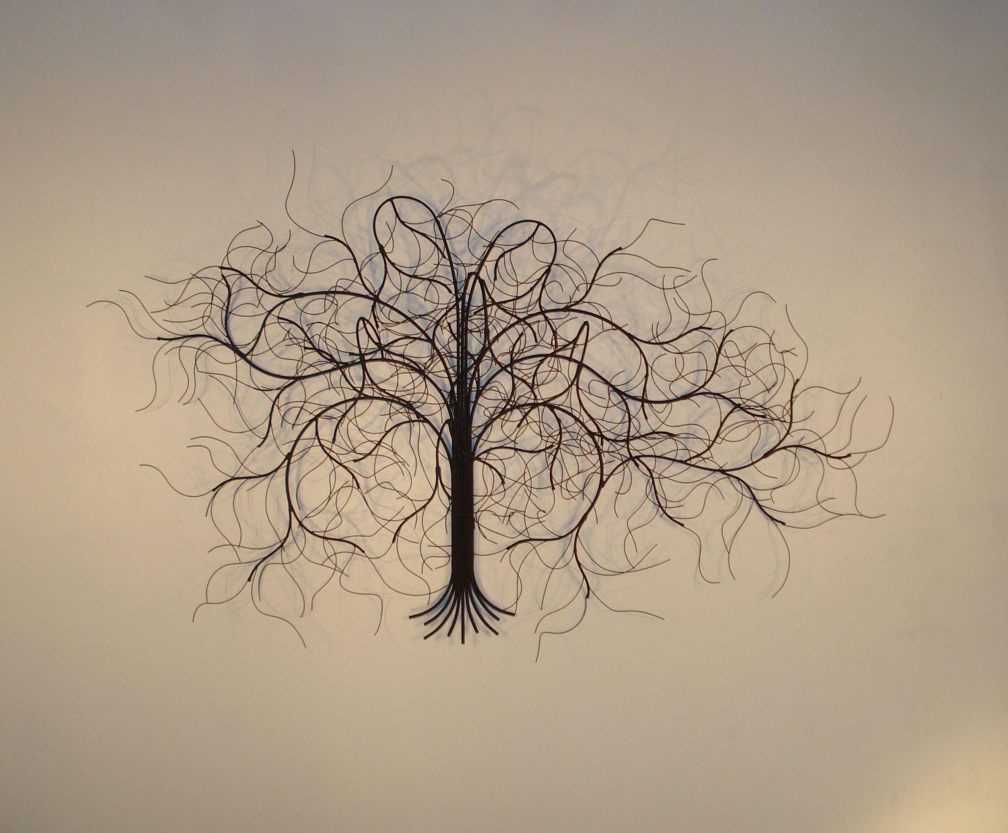 Metal Sculpture Wall Art December Tree Black' Metal Sculpture Wall Art  Apartment Tree