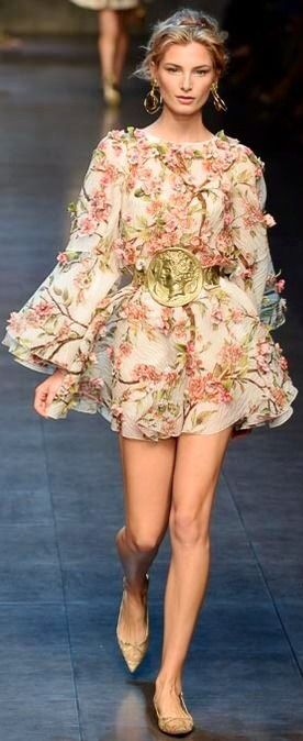 Dolce & Gabana runway fashion dress