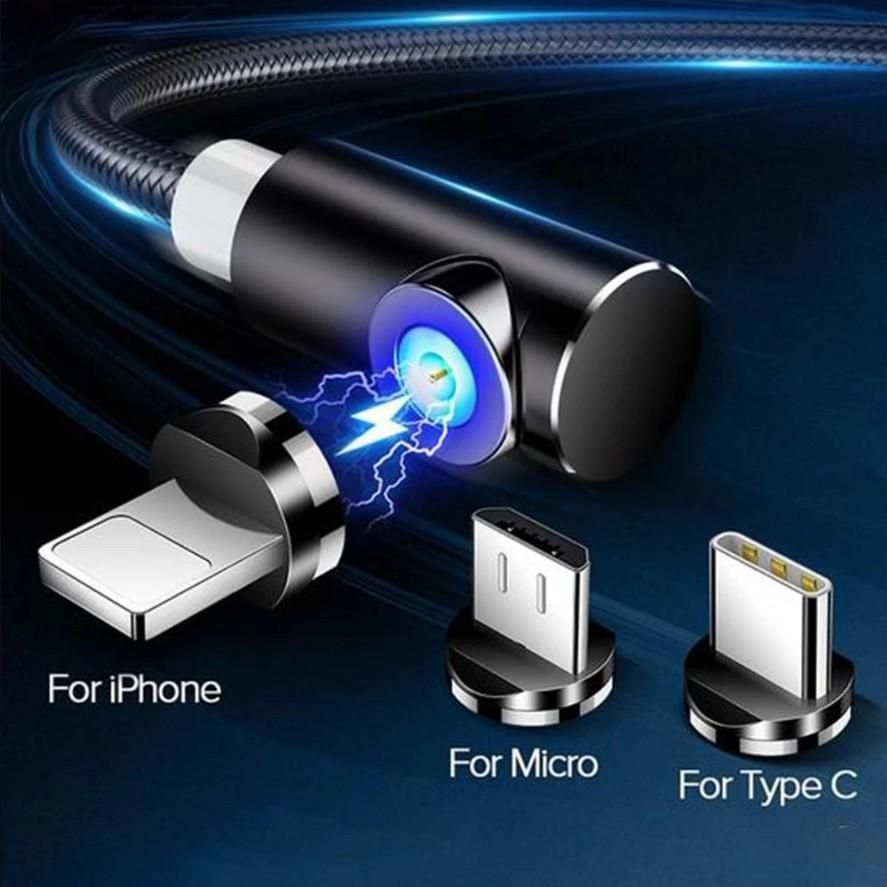 Magnetic USB Charging Cable With 3 Plug In 2020