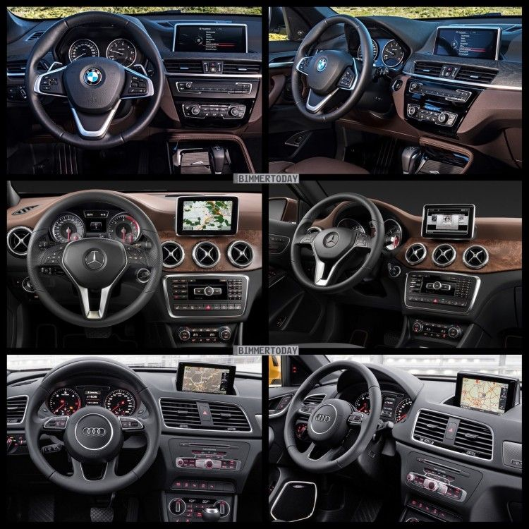 Bild Vergleich Bmw X1 F48 Audi Q3 Mercedes Gla 2015 06