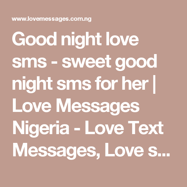 Good night love sms - sweet good night sms for her | Love Messages ...