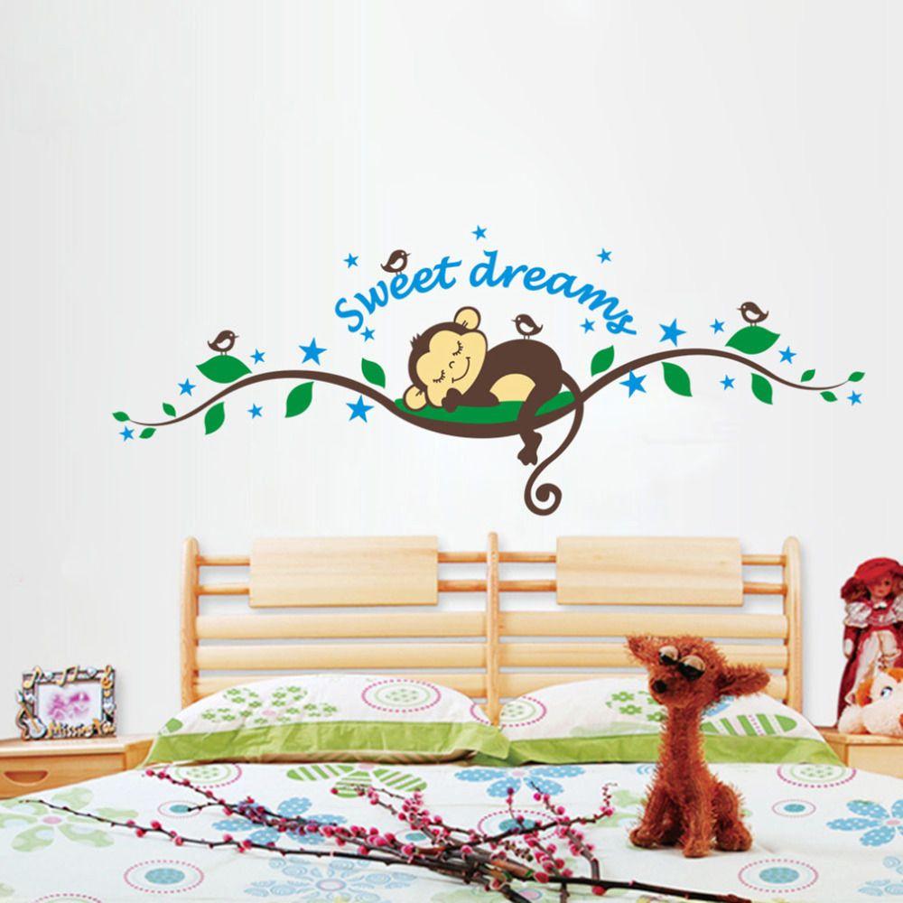 aliexpress com buy 2016 new cartoon monkey tree sweet dream wall