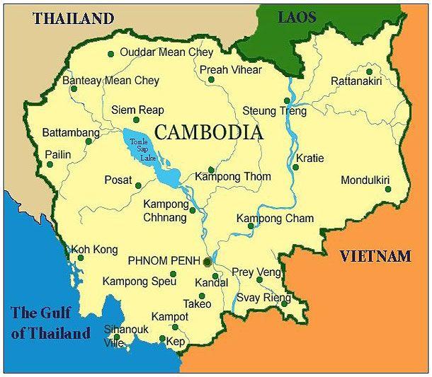 Welcome To KYork Travel Service Cambodia Map Cambodia - Cambodia map