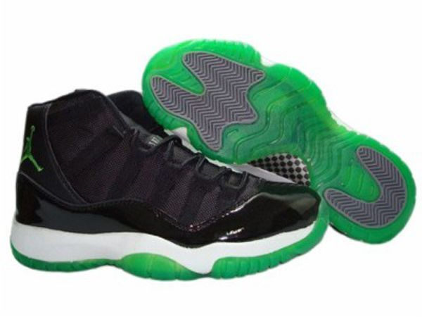 Nike Air Jordan 11 Basketball sales Shoes Black Green on