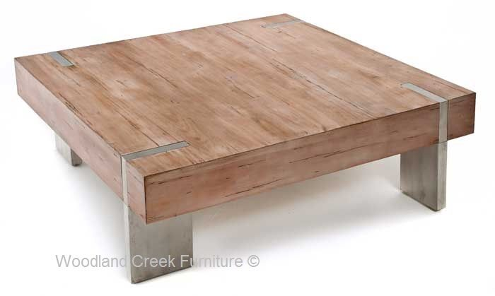 48 X 48 Modern Rustic Coffee Table Rustic Square Coffee Table