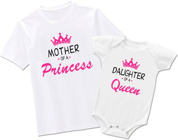 Mother of a princess/ Daughter of a Queen T-Shirts