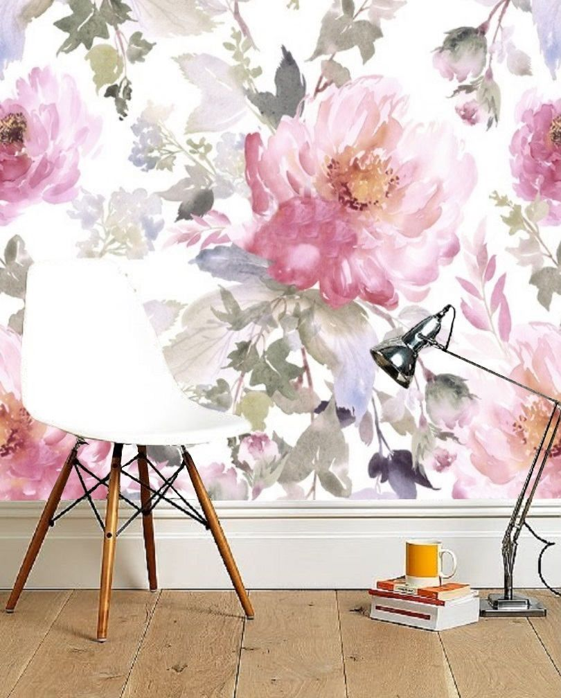 Floral Removable Wallpaper Peonies Wall Mural Large Peony