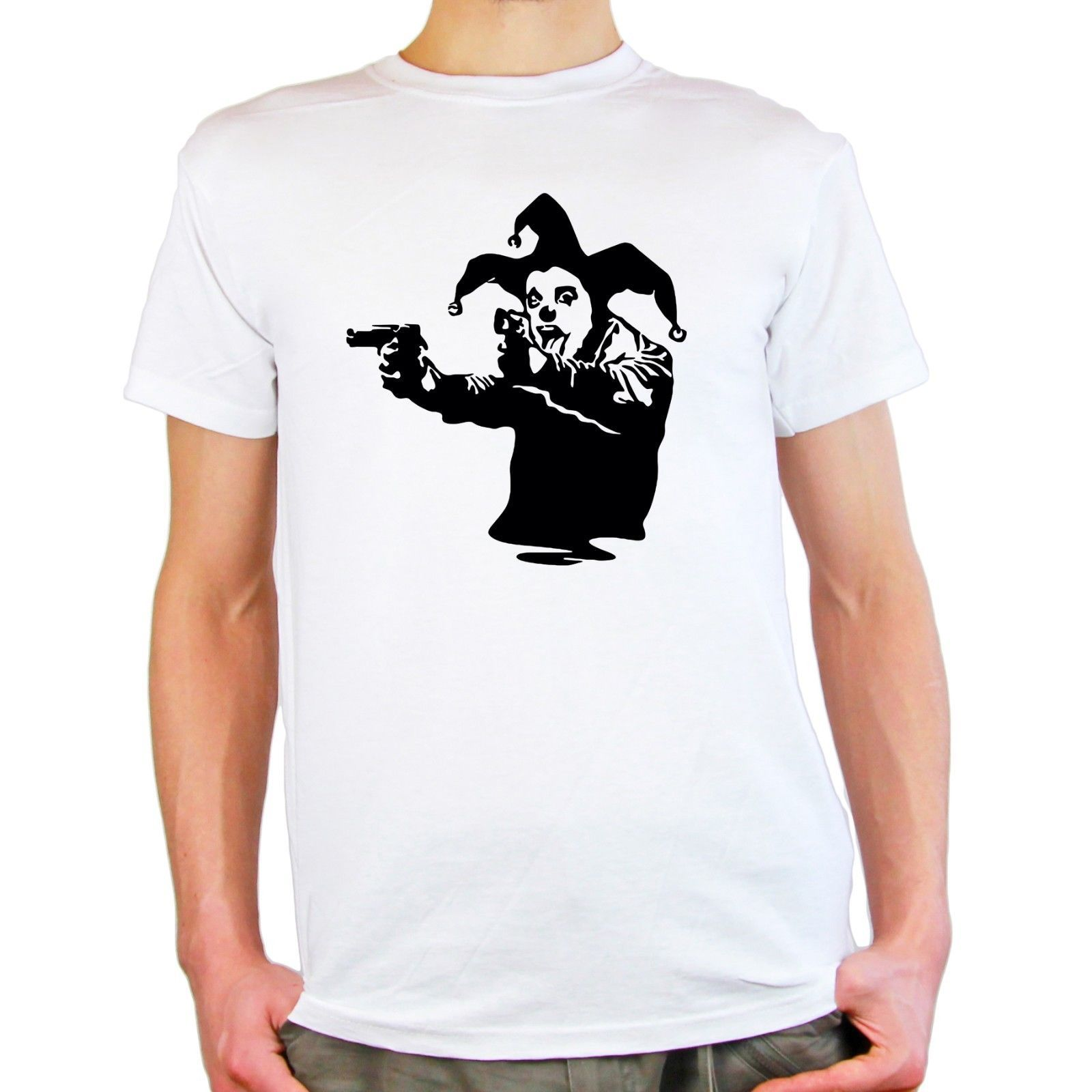 9962f7b01c8c2 Click to Buy    Men s Short Sleeve Printing Machine T-Shirt Banksy ...