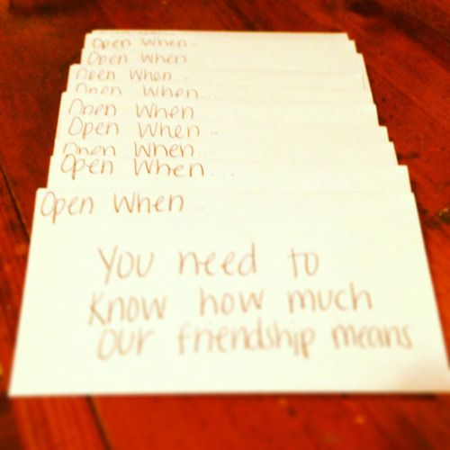 image result for open when letters for best friends σρєи ωнєи
