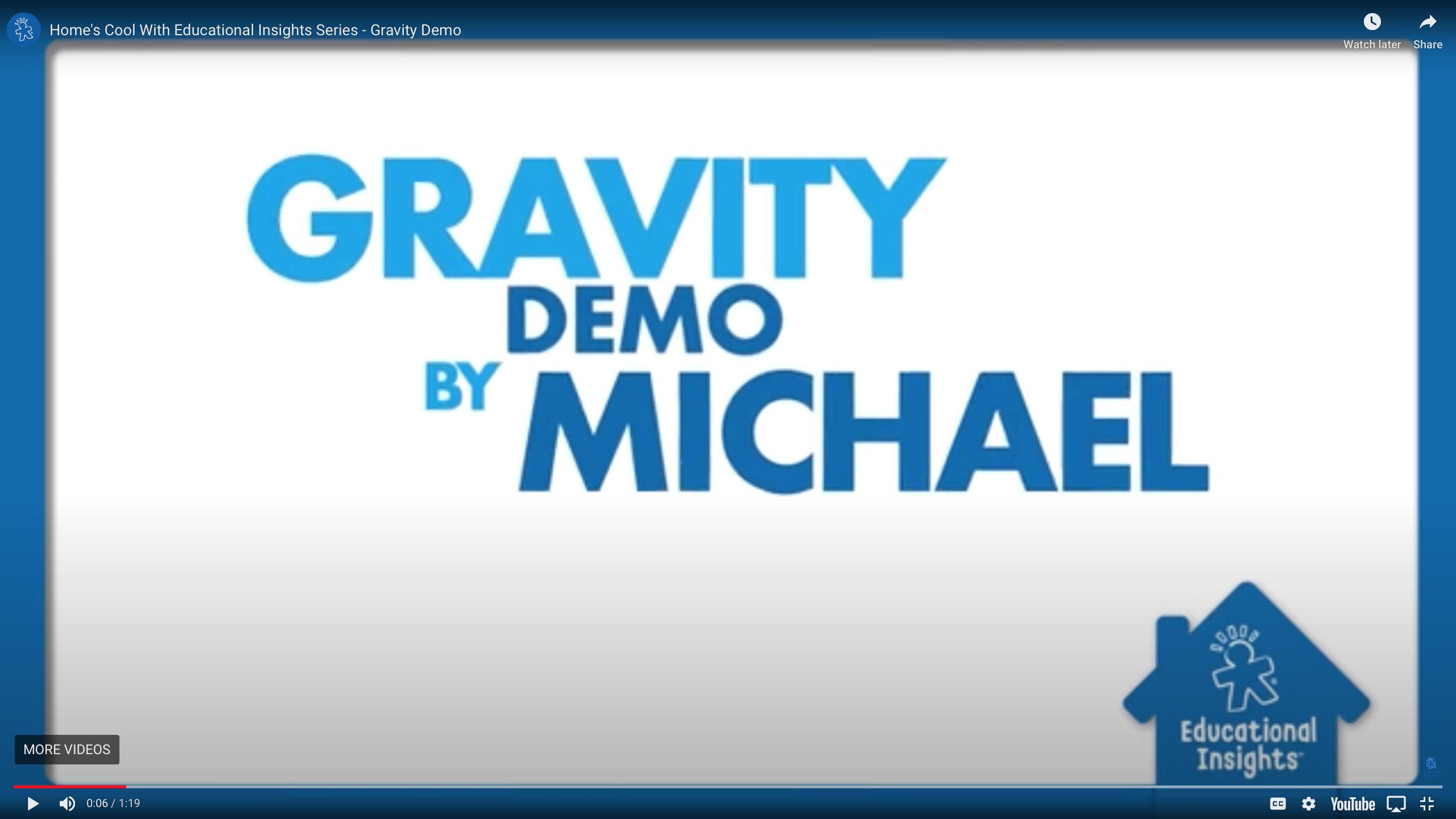 Simple Science Experiment For Kids Gravity Demonstration