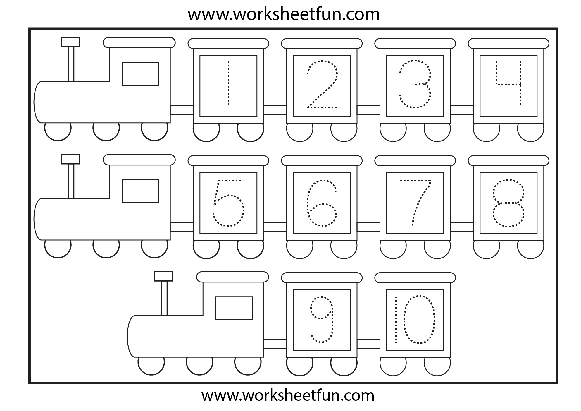 Printables Number Tracing Worksheets 1-10 1000 images about number worksheets on pinterest to work student and year 2