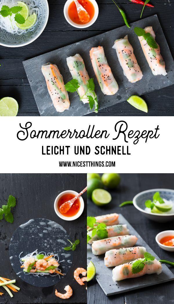 Rezept für Sommerbrötchen Sommerbrötchen Reis ...   - Fisch und Seafood Rezepte -