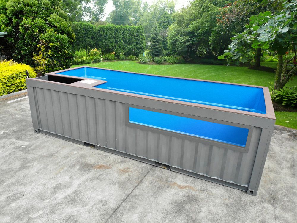 Glass Panel Pool Shipping Container Swimming Pool Container Pool Diy Swimming Pool