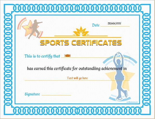 Sports Certificate Template for MS Word DOWNLOAD at http – Sport Certificate Templates for Word